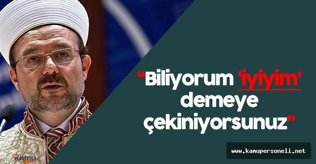 """Mehmet Görmez: """"Medine'de bombalar patladı. Biz 'bayram' diyoruz ama..."""""""