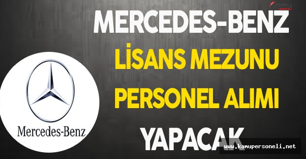 Mercedes-Benz Personel Alımı Yapacak