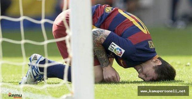 Barcelona'nın yıldız futbolcusu Lionel Messi sakatlandı