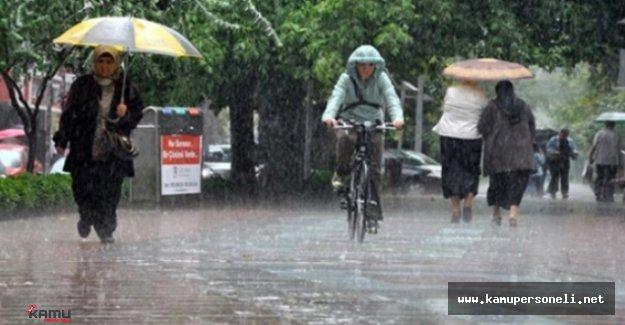 Meteoroloji'den Şiddetli Yağış Uyarısı ( Yağış Beklenen Bölgeler )