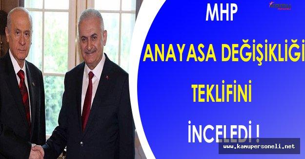 MHP Anayasa Değişikliği Teklifinde İncelemelerini Tamamladı