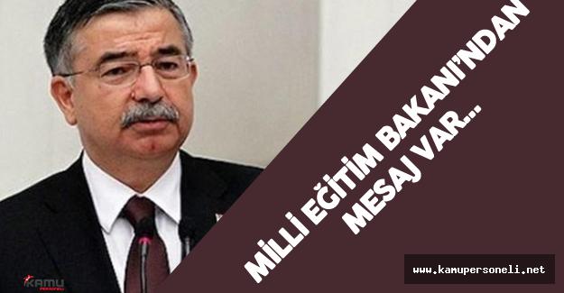 """Milli Eğitim Bakanı İsmet Yılmaz : """"Yeni eğitim öğretim dönemine..."""""""