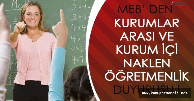Milli Eğitim Bakanlığından Naklen Öğretmenlik İçin İl Tercihi Duyurusu!