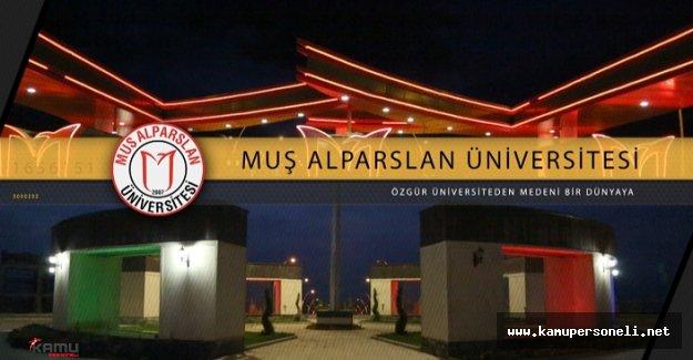 Muş Alpaslan Üniversitesi Akademik Personel Alımı Yapıyor