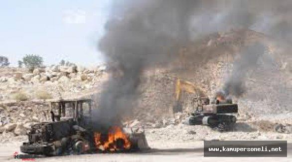 Muş'ta Terör Saldırısı ( İş Makineleri Ateşe Verildi )
