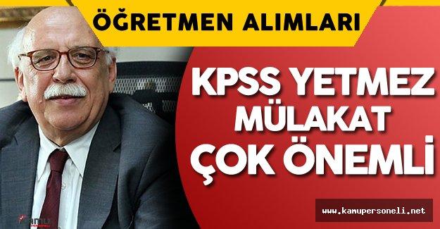 Nabi Avcı'dan Öğretmen Alımları ve KPSS ÖABT Konusunda Son Dakika Açıklaması
