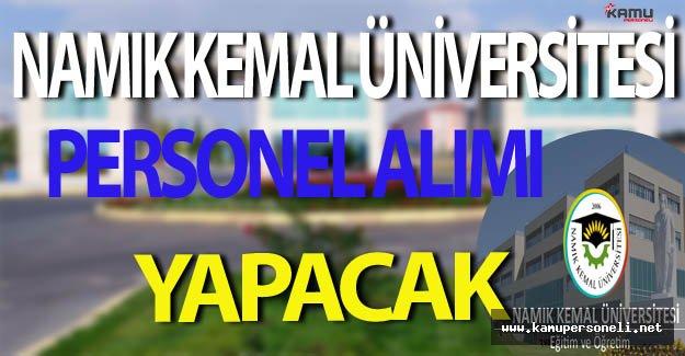 Namık Kemal Üniversitesi Personel Alım İlanı