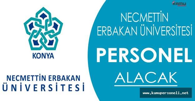 Necmettin Erbakan Üniversitesi Personel Alacak