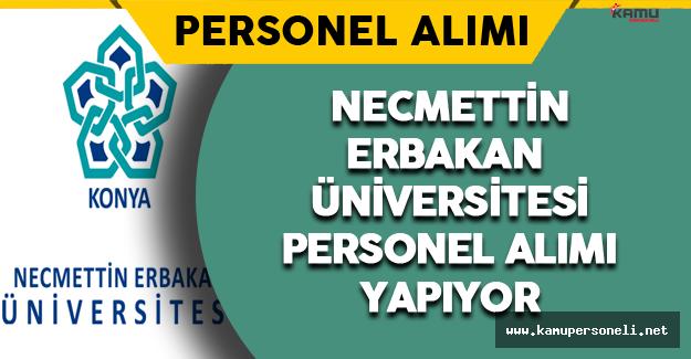 Necmettin Erbakan Üniversitesi Personel Alımı Yapıyor
