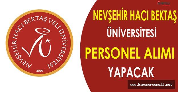 Nevşehir Hacı Bektaş Üniversitesi Personel Alımı Yapacak