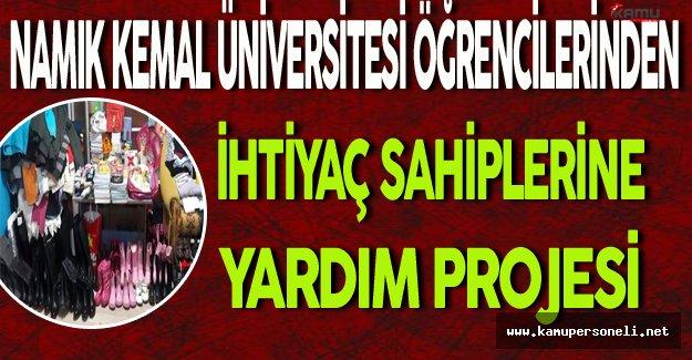 Namık Kemal Üniversitesi Öğrencilerinden İhtiyaç Sahiplerine Yardım Projesi