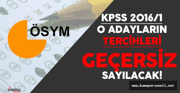 O Adayların KPSS Tercihleri Geçersiz Sayılacak