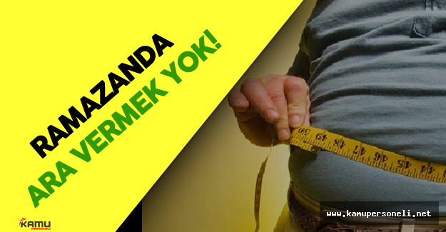 Obezite ile Mücadele Ramazan Ayında Devam Edecek