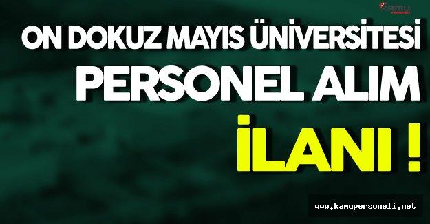 On Dokuz Mayıs Üniversitesi Personel Alımı