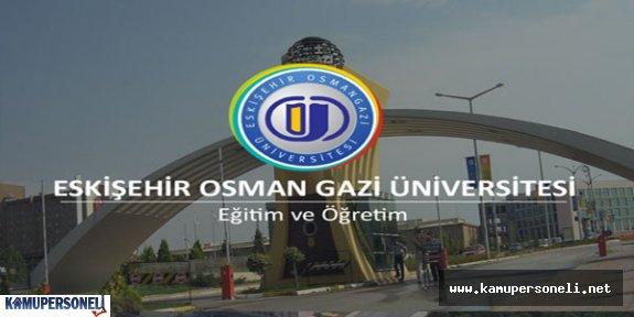 Osmangazi Üniversitesi Sözleşmeli Personel Alımı