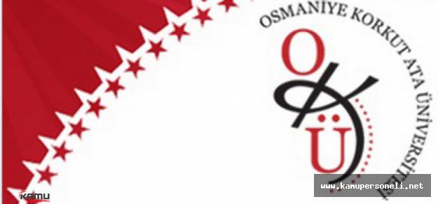 Osmaniye Korkut Ata Üniversitesi Akademik Personel Alımı İlanı