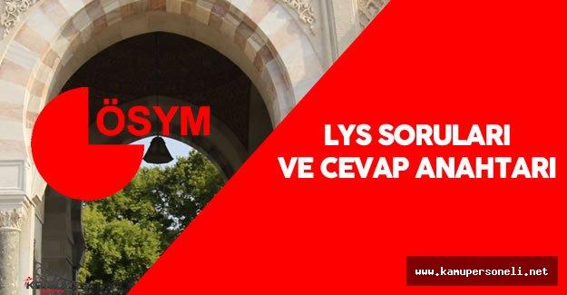 """ÖSYM: """"2016 LYS 2 , LYS 3 ve LYS 5 Sınav Soruları ve Cevapları Yayımlandı"""""""