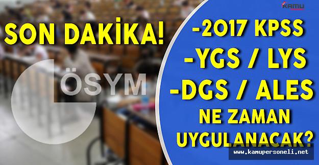 ÖSYM 2017 Sınav ve Sonuç Açıklama Takvimini Yayınladı !