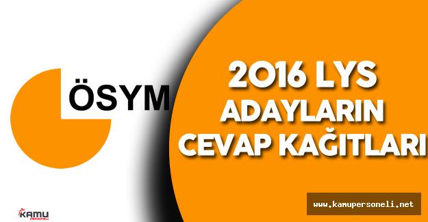 ÖSYM'den 2016 LYS Cevap Kağıtlarının Görüntülenmesi Duyurusu !