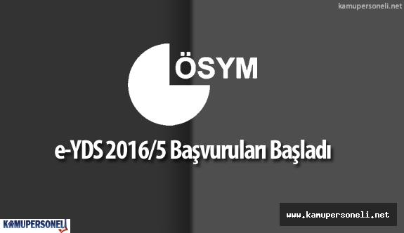 """ÖSYM:  """"e-YDS 2016/5 İçin Başvurular Başladı"""""""