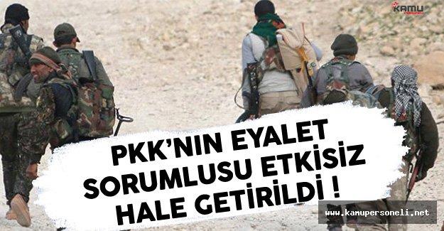 PKK'nın Eyalet Sorumlusu Etkisiz Hale Getirildi