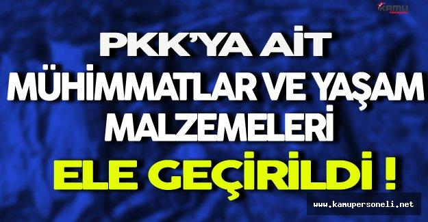 PKK'ya Ait Mühimmatlar Ele Geçirildi