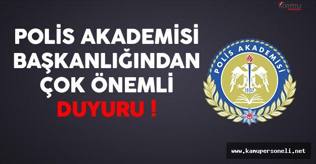 Polis Akademisi'nden 19.Dönem POMEM'e (10 Bin Özel Harekat) Başvuru Yapan Adaylara Çok Önemli Duyuru !