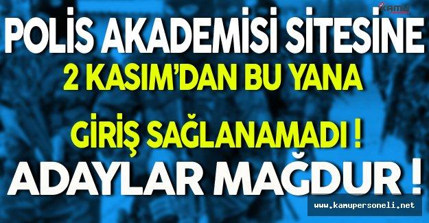 Polis Akademisi Sitesine 2 Kasım'dan Bu Yana Giriş Sağlanamıyor! PÖH Adayları Mağdur!
