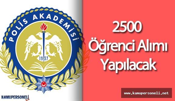 Polis Meslek Yüksekokulu (PMYO) 2500 Öğrenci Alımı Yapacak