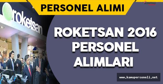 Roketsan 2016 Personel Alımları