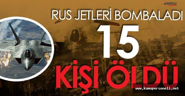 Rus Jetleri Halep'i Bombaladı 15 Kişi Hayatını Kaybetti