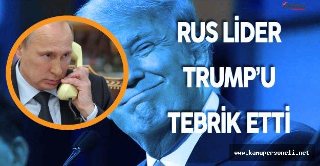 Rusya Devlet Başkanı Putin Donald Trump'u Tebrik Etti