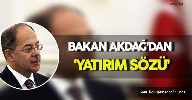 Sağlık Bakanı Akdağ'dan Yatırım Sözü