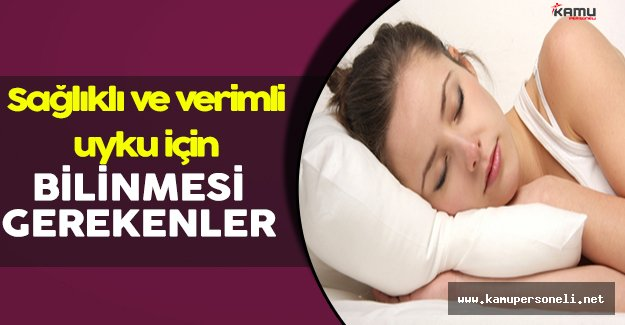 Sağlıklı Bir Uyku Süresi İçin Bilinmesi Gerekenler