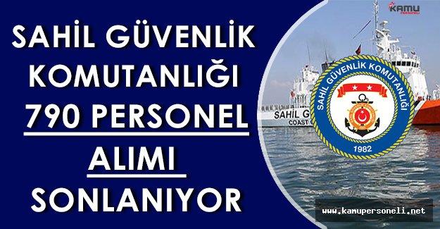 Sahil Güvenlik Komutanlığı 790 Personel Alım Başvuruları Sonlanıyor