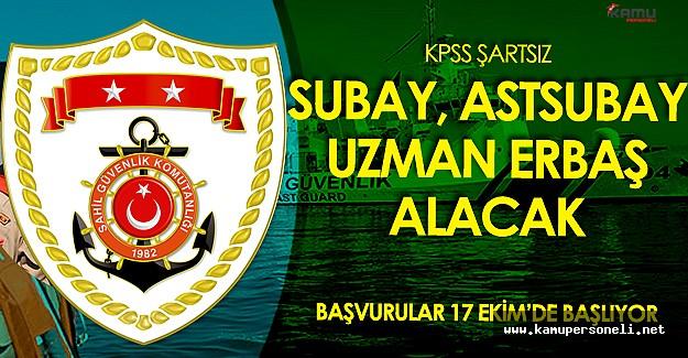 Sahil Güvenlik Komutanlığı Subay, Astsubay ve Uzman Erbaş Alacak