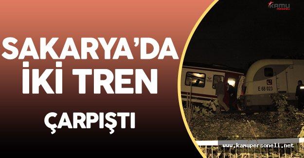 Sakarya'da Tren Kazası ! Yaralılar Var