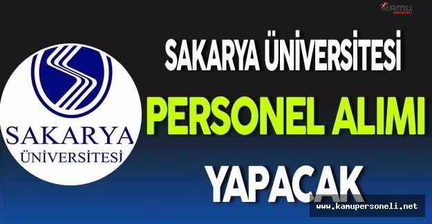 Sakarya Üniversitesi Personel Alacak