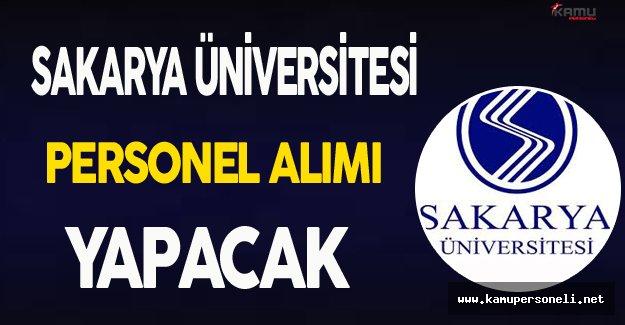 Sakarya Üniversitesi Personel Alımı Yapacak