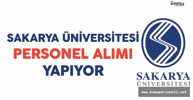 Sakarya Üniversitesi Personel Alımı Yapıyor