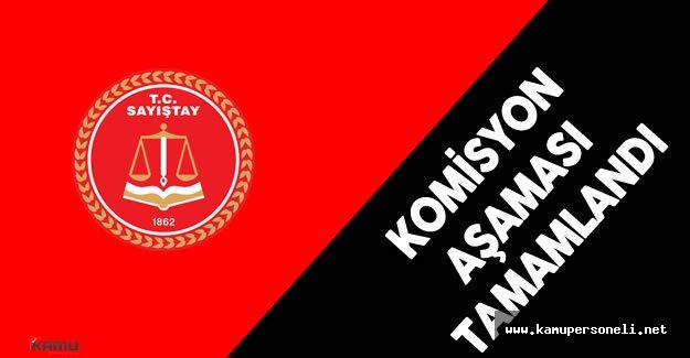 Sayıştay Başkanlığı Seçimi - Komisyon Aşaması Tamamlandı