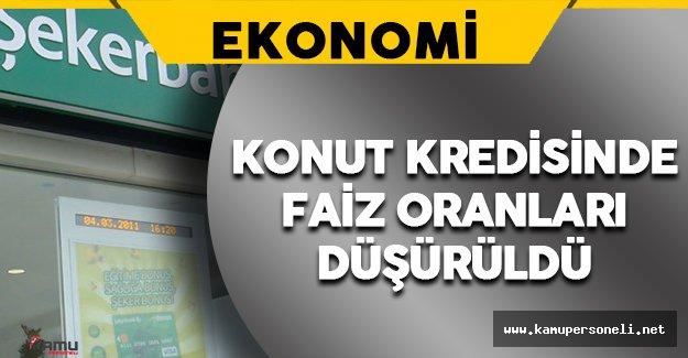 Şekerbank Konut Kredisinde Faiz Oranlarını Düşürdü