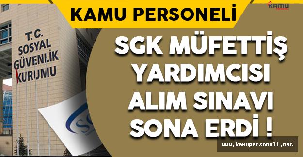 SGK Müfettiş Yardımcısı Alım Sınavı Sona Erdi