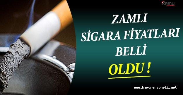 Sigaraların Zamlı Fiyatları Yayımlandı !