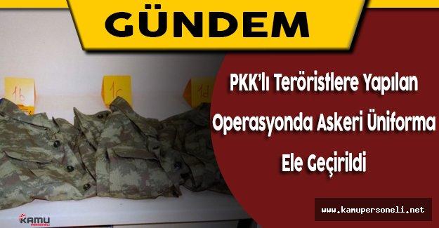 Siirt'te Pkk'lı Teröristlere Yapılan Operasyonda Askeri Üniforma Bulundu