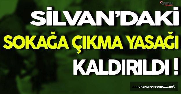 Silvan'daki Sokağa Çıkma Yasağı Kaldırıldı