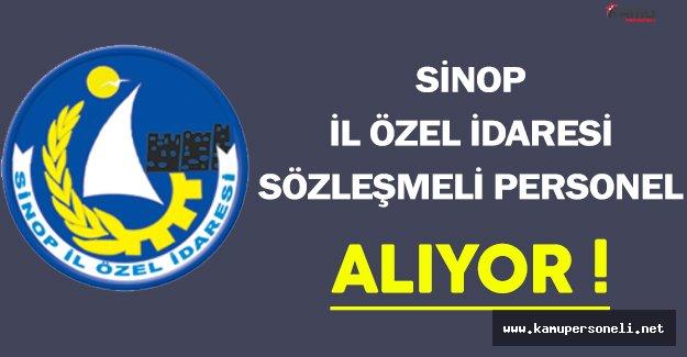 Sinop İl Özel İdaresi Sözleşmeli Personel Alıyor