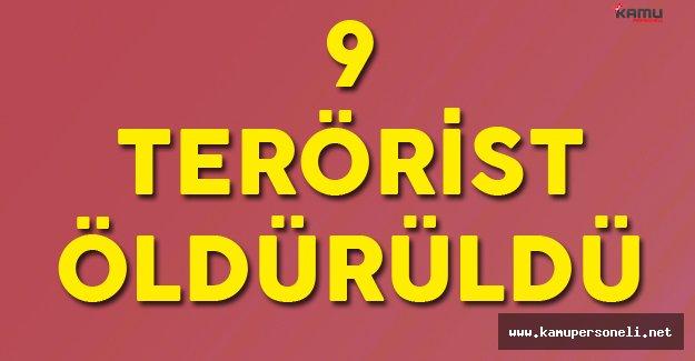 Şırnak Beytüşşebap'da 9 Terörist Öldürüldü