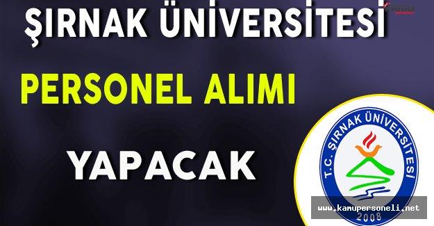 Şırnak Üniversitesi Personel Alım İlanı