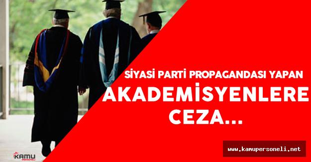 Siyasi Parti Propagandası Yapan Akademisyenin İşi Zor